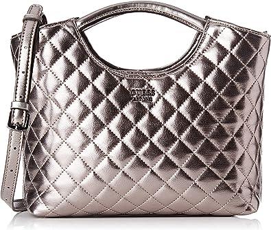 Guess Miriam, Shoppers y bolsos de hombro Mujer, Plateado (Pewter), 10x26.5x32.5 cm (W x HL)