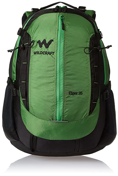 bbe3bd5022 Wildcraft 35 Liters Green Hiking Backpack (Eiger Plus Green)  Amazon ...