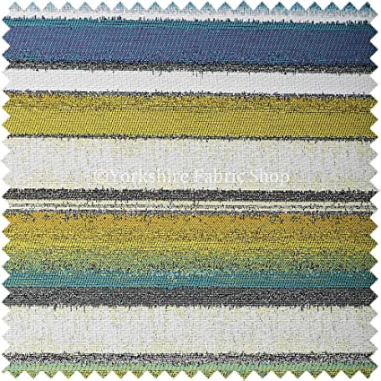 Yorkshire Fabric Shop Exclusiva Tela Blanco Verde Color Azul ...