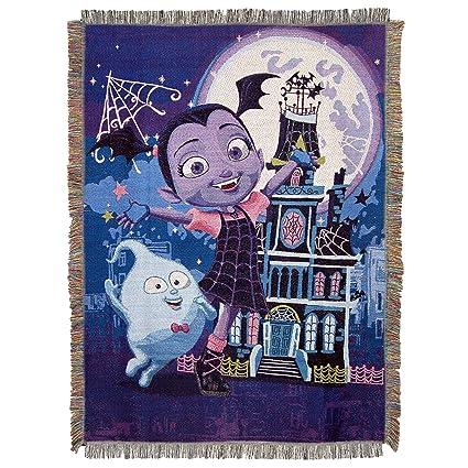 Amazon Com Disney S Vampirina Ghostly Woven Tapestry Throw
