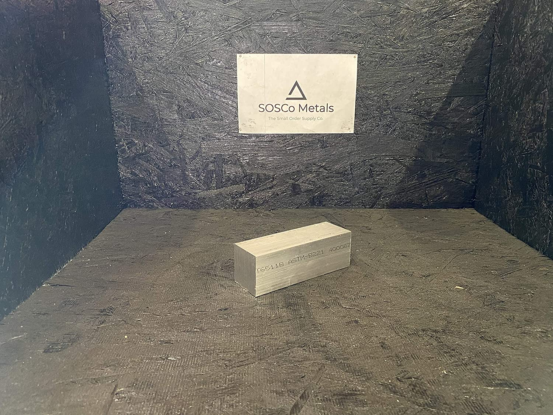 """6061 aluminum .5/"""" X 4/"""" X 4/"""" long new solid plate flat stock bar block 1//2"""