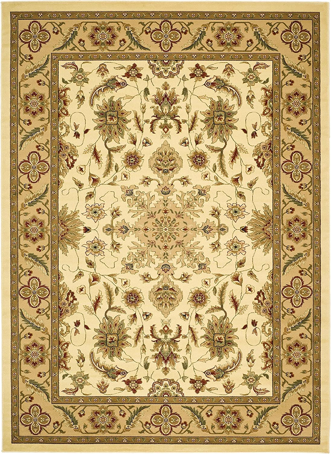 Amazon Com Safavieh Lyndhurst Collection Lnh211a Traditional Oriental Area Rug 9 X 12 Ivory Tan Furniture Decor