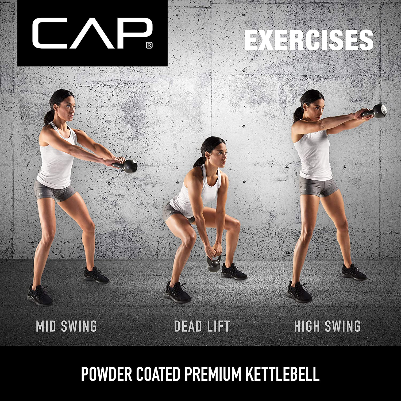 CAP Barbell Enamel Coated Cast Iron Kettlebell