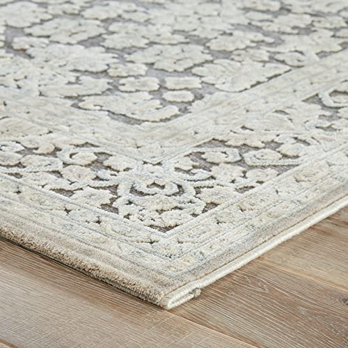 Jaipur Living Regal Oriental Gray Silver Area Rug 9 X 12