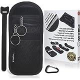WeShield® Anti Theft RFID Signal - Blocker Pouch Car Key With 4 Faraday Layers Premium Keyless Entry Bag Keyless Go Advanced Faraday Key Fob Shield
