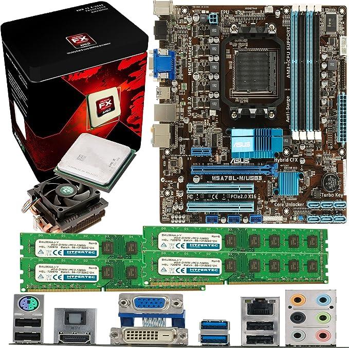 AMD Bulldozer FX-6300 6 Core 3.5Ghz ASUS M5A78L-M USB3 Motherboard /& 8GB 1600Mhz DDR3 RAM Pre-Built Bundle