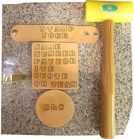 3 4 Old English Alphabet Stamp Set Springfield Leather Company 011 814200