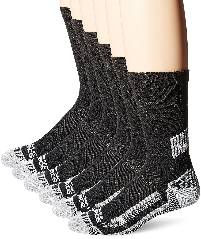 Carhartt Men/'s Force Multipack Performance Work Crew Socks