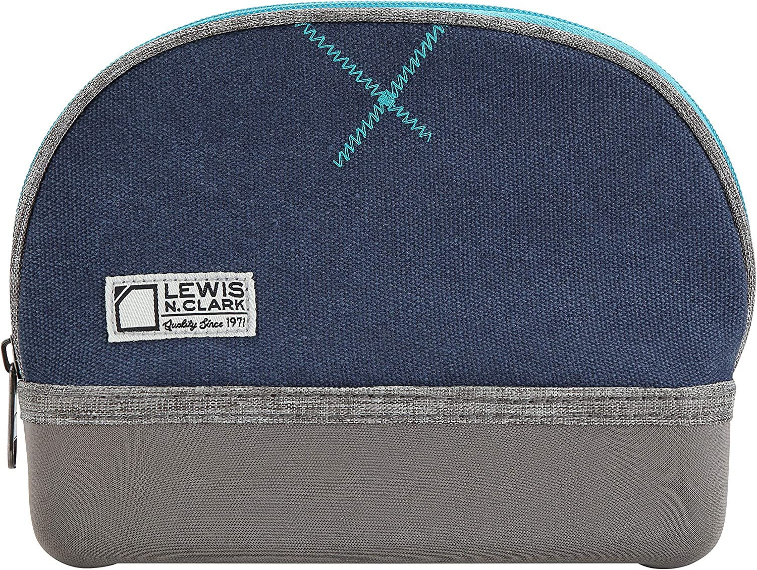 Lewis N. Clark Travelflex Toiletry Kit, Makeup Bag, Shower Caddy + Travel Organizer for Luggage, Carry-on or Suitcase, Blue, One_Size