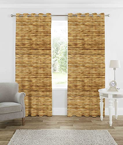b7 CREATIONS® 1-Piece Knitted 3D Digital Print Curtain for Long Door – 9 Feet, 1 Curtain