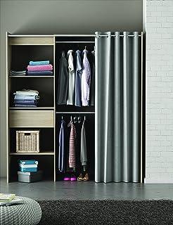 kleiderschrank vorhang bestseller shop f r m bel und einrichtungen. Black Bedroom Furniture Sets. Home Design Ideas