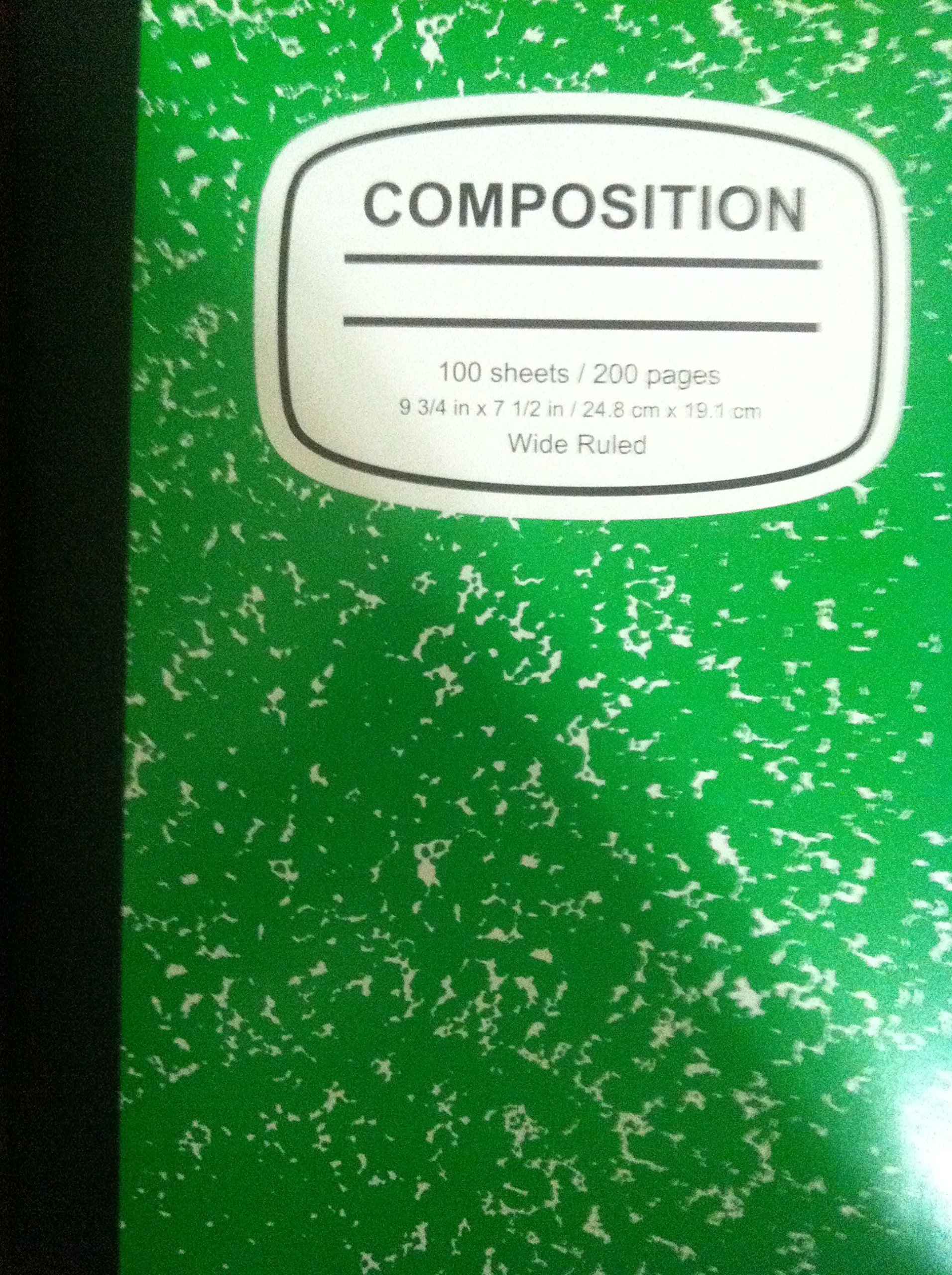 Green And White Composition Book 2