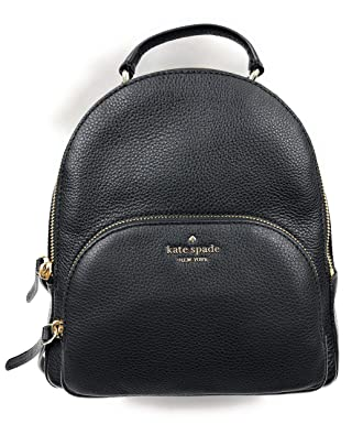 Kate Spade New York Jackson Medium Backpack Pebbled Leather Black by Kate Spade+New+York