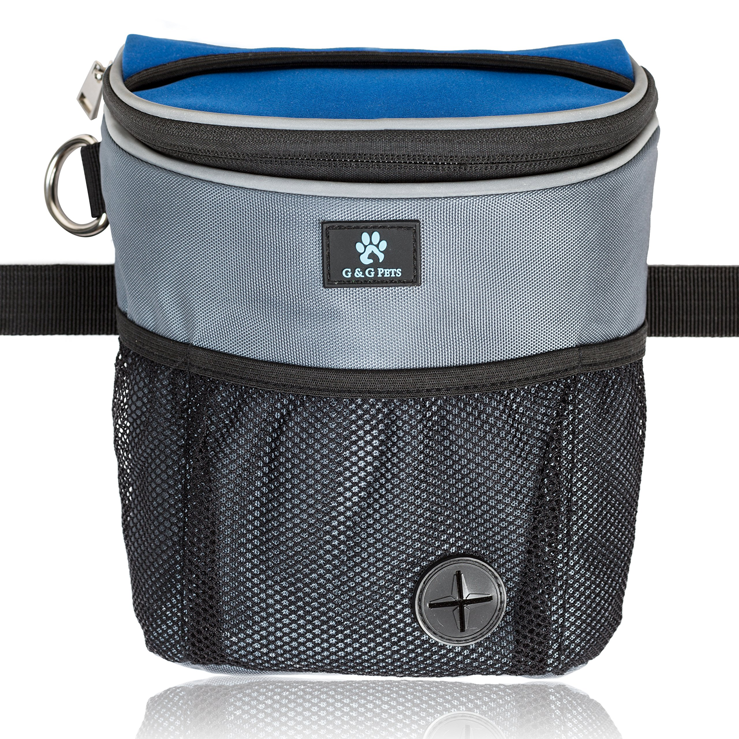 G&G Pets – Large Dog Treat Pouch Obedience Agility Training - Includes Adjustable Waist Belt, Waste Bags Dispenser Complimentary Roll Poop Bags - Hands-free Easy Access to Rewards