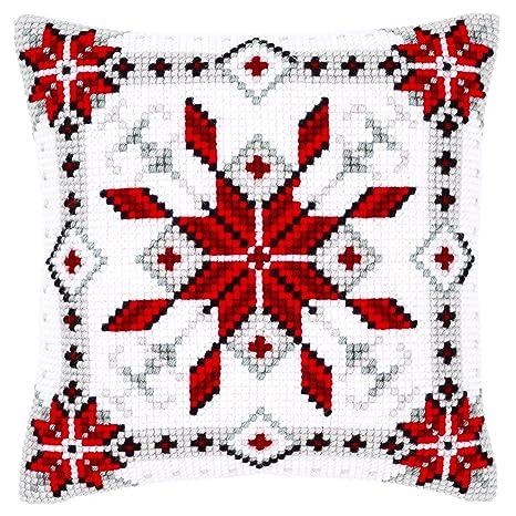 Amazon.com: Impreso Cojín de punto de cruz: nieve vidrio I ...