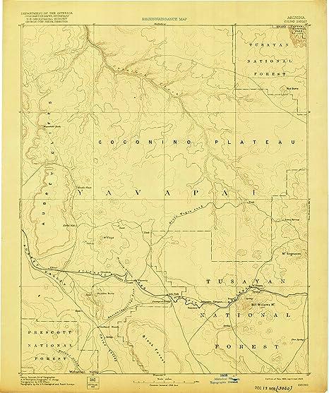 Az Topographic Map.Amazon Com Yellowmaps Chino Az Topo Map 1 250000 Scale 1 X 1