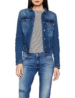c9fea6db95b8 Tommy Jeans Damen Slim Denim Trucker Vivianne Langarm Jeansjacke Denim Jacke
