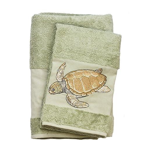 Fresh Amazon.com: Turtle Embroidered Bath and Hand Towel 100% Cotton  YL88