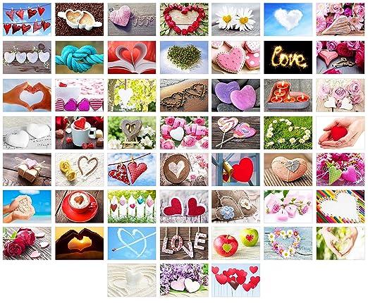 Edition Seidel Set 52 Premium Postkarten zur Hochzeit - Hochzeitsspiel: eine Postkarte jede Woche. Hochzeitsgeschenk Liebe He