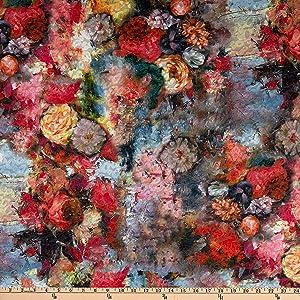 Telio Kimono Uragiri Novelty Knit Floral Print, Rose Yard