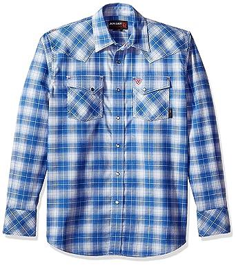 Amazon com: ARIAT FR Simeon Retro Fit Work Shirt: Clothing