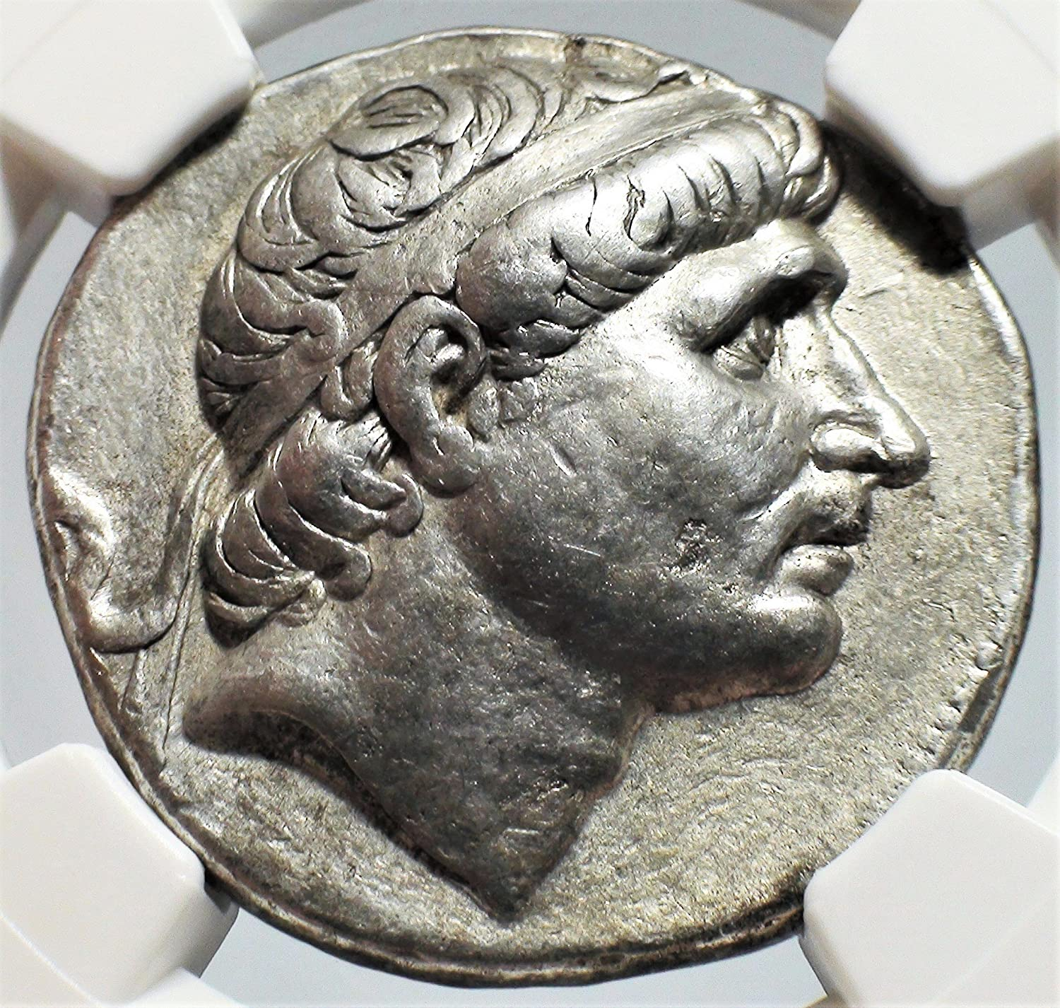 GR 281-261 BC Ancient Seleucid Empire Antiochus I Antique Silver