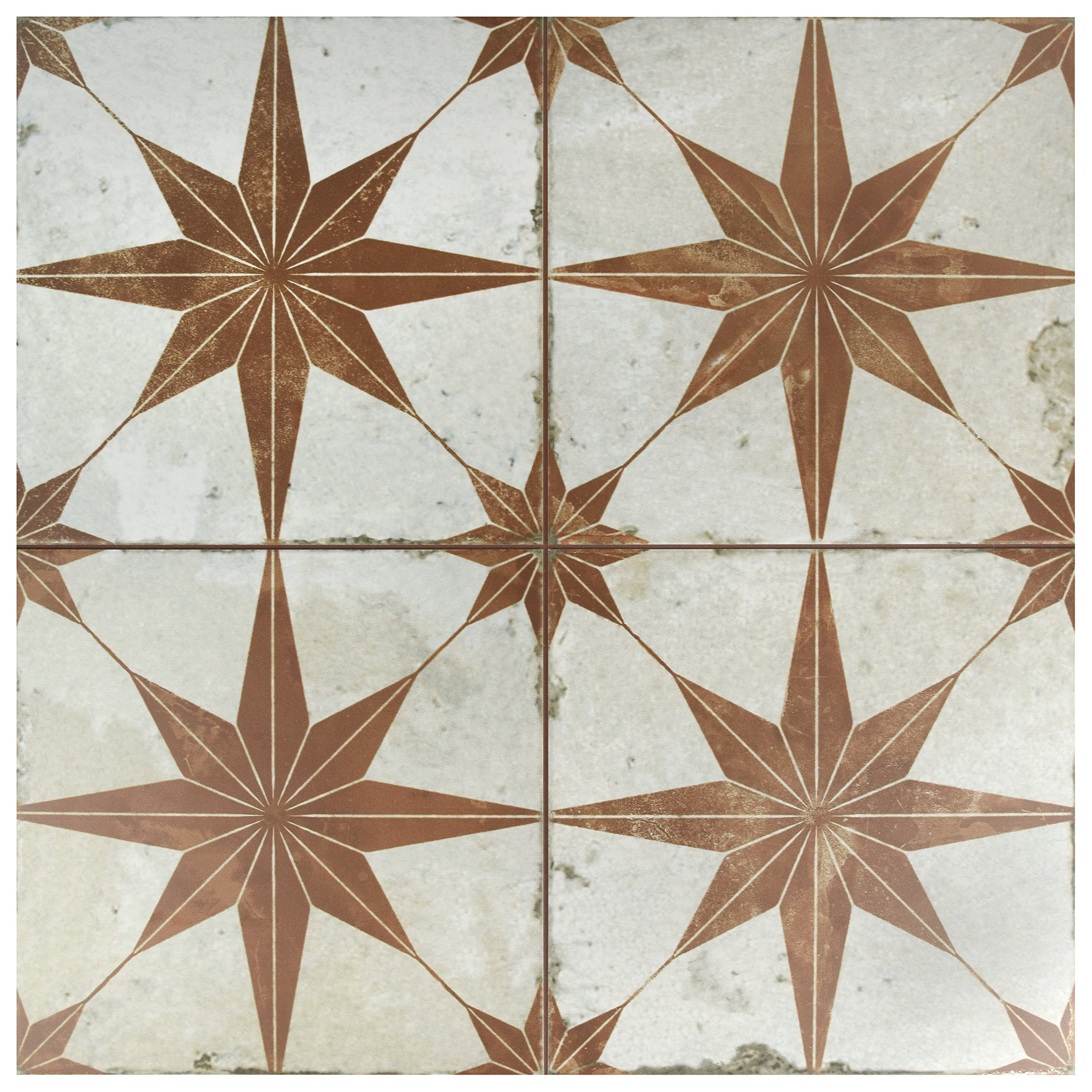 SomerTile FPESTRO Astre Ceramic Floor and Wall Tile, Oxide