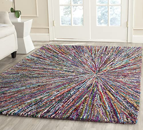 Safavieh Nantucket Collection Handmade Abstract Burst Cotton Area Rug, 8 x 10 , Multicolored