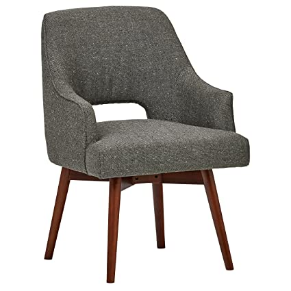 Charmant Rivet Mid Century Open Back Swivel Chair, ...