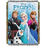 "Disney Frozen,Frozen Fun Woven Tapestry Throw Blanket, 48"" x 60"""