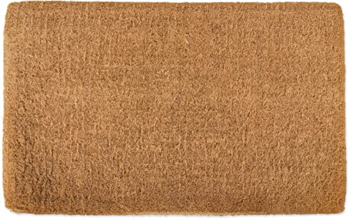 DII Natural Coir Coco Fiber Non-Slip Outdoor Indoor Classic Doormat, 24×36, Imperial Plain