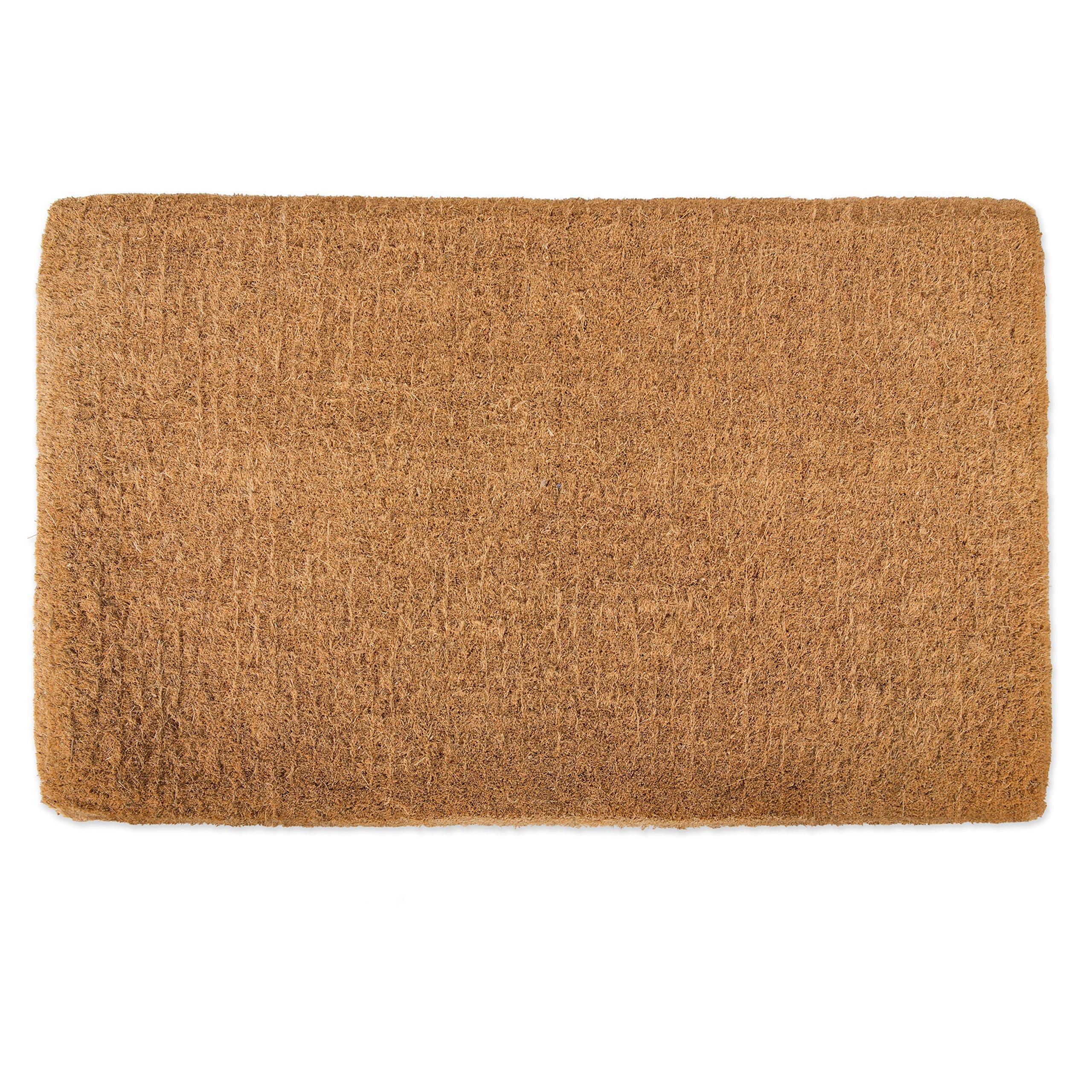 Natural Coir Coco Fiber Imperial Outdoor Doormat, 30x48'', Heavy Duty Entry Way Shoes Scraper Patio Rug Dirt Debris Mud Trapper Waterproof-Plain by J&M Home Fashions