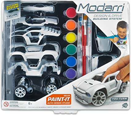 Toy Cars That You Can Drive >> Modarri Delux Paint It Auto Design Studio Paint And Build Your Own Toy Car Creative Stem And Art Craft Kit Includes Paints And Brushes Make