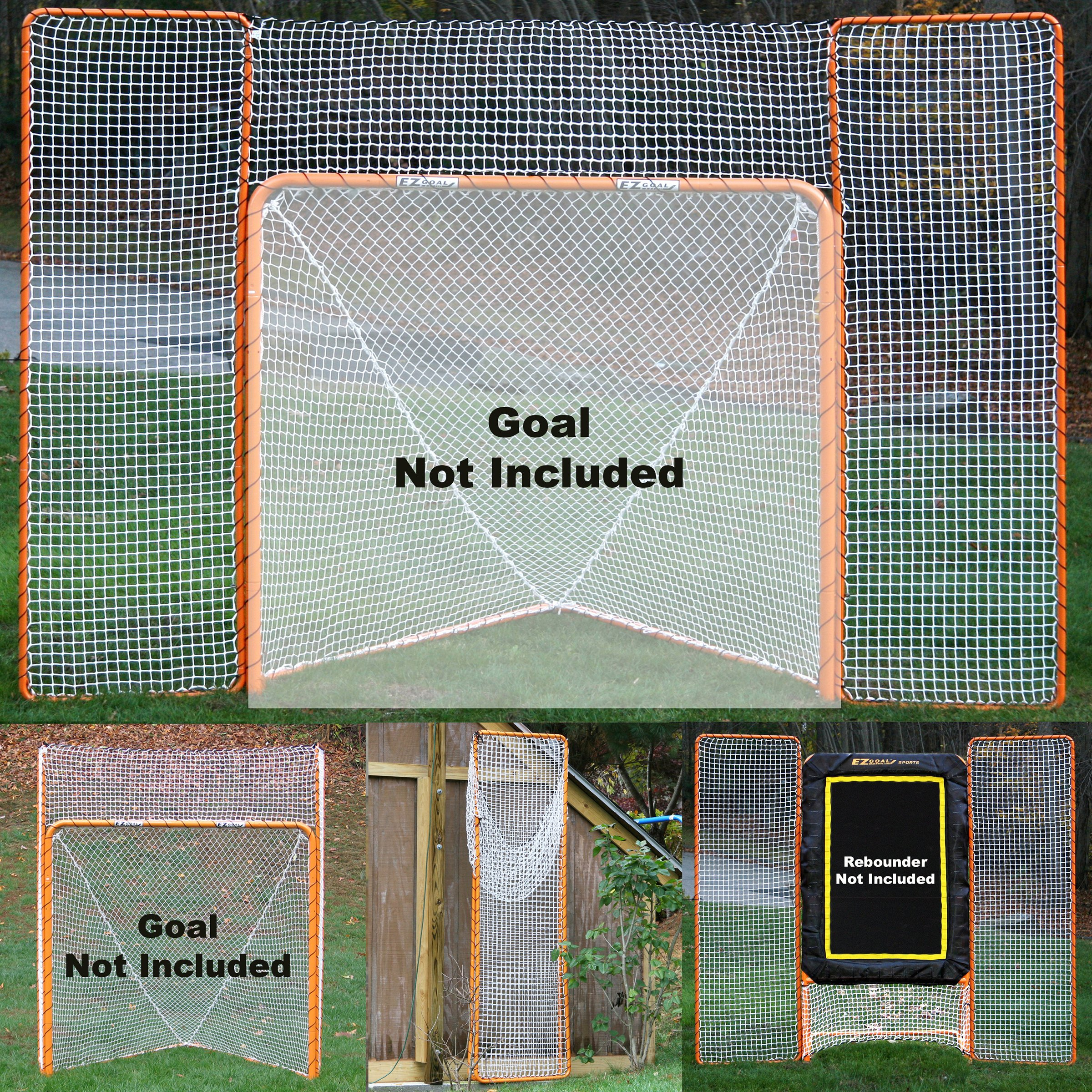 EZGoal Monster Lacrosse Backstop Rebounder, 11' x 8', Orange by EZGoal