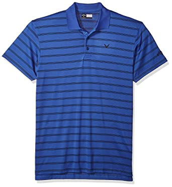 Callaway Men s Big & Tall OPTI-Vent Rayas Polo de Manga Corta ...