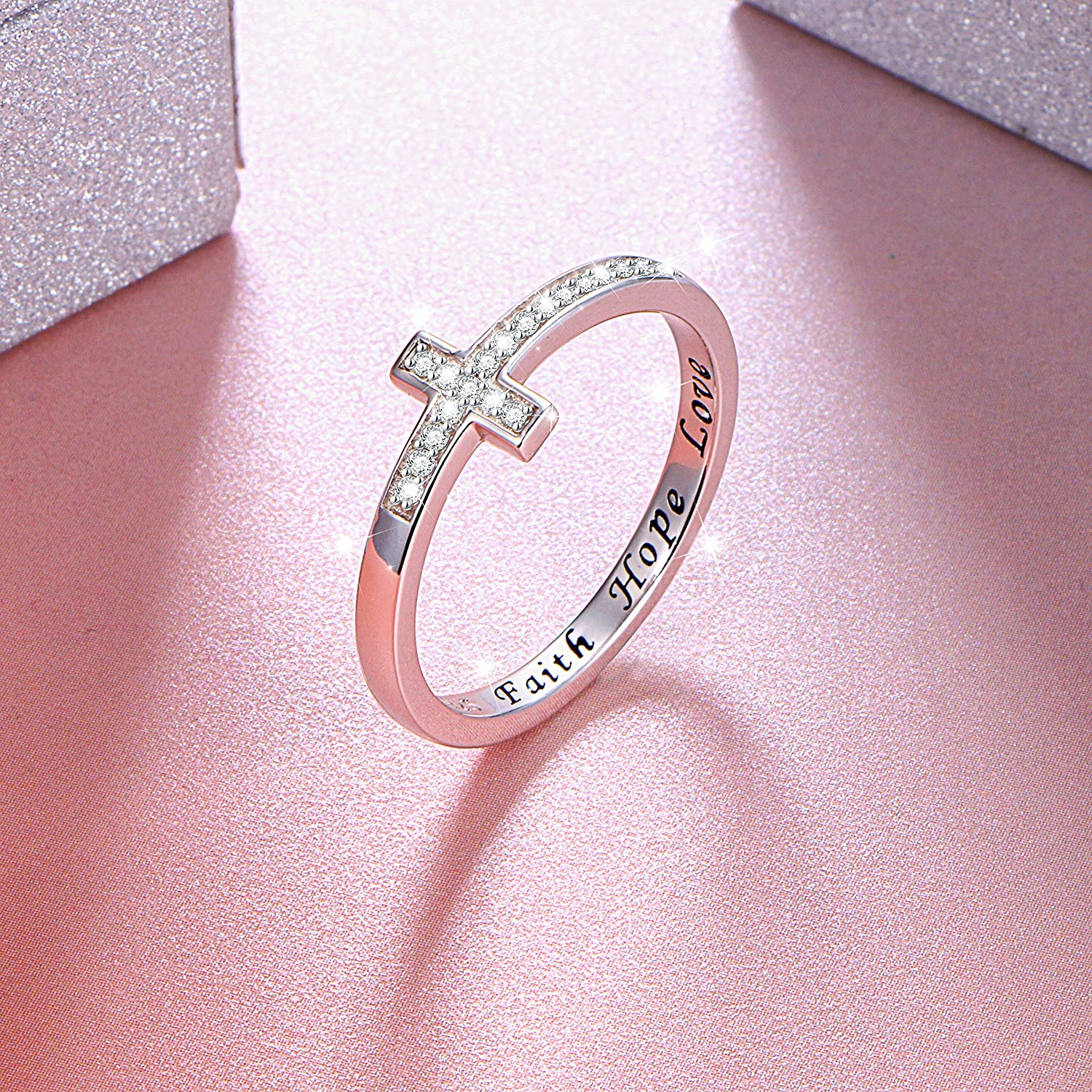 Amazon.com: DAOCHONG Inspirational Jewelry Sterling Silver Engraved ...