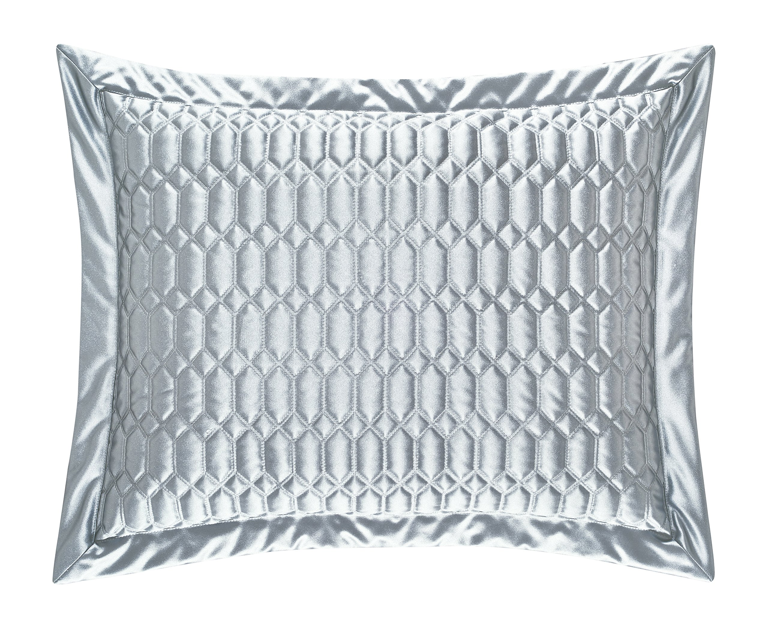 Five Queens Court Saranda Satin Geometric Quilted Pillow Sham Standard, Spa