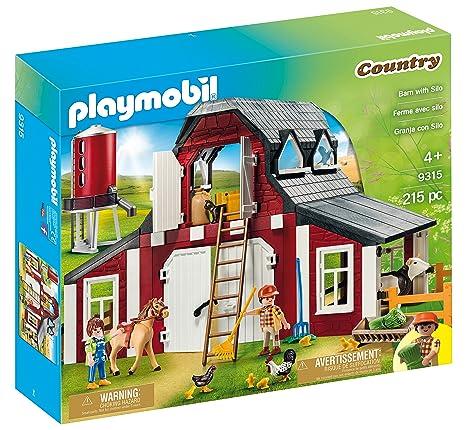 Amazon.com: PLAYMOBIL® Barn with Silo: Toys & Games