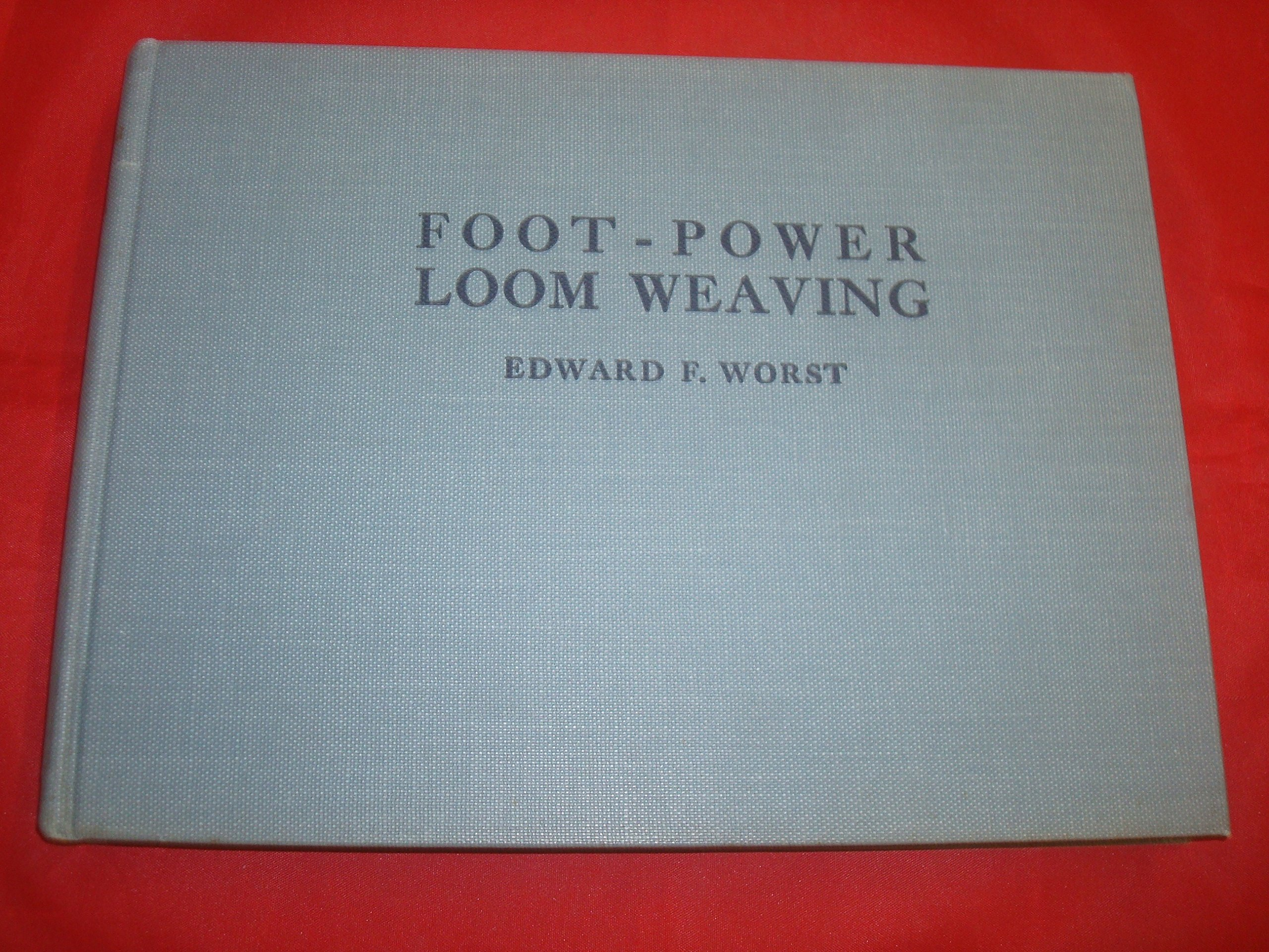 Foot-power loom weaving,