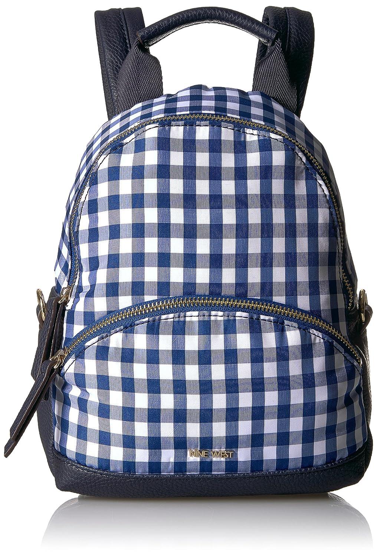 Nine West Womens Mini Taren Backpack blue-white//tobacco 60467555