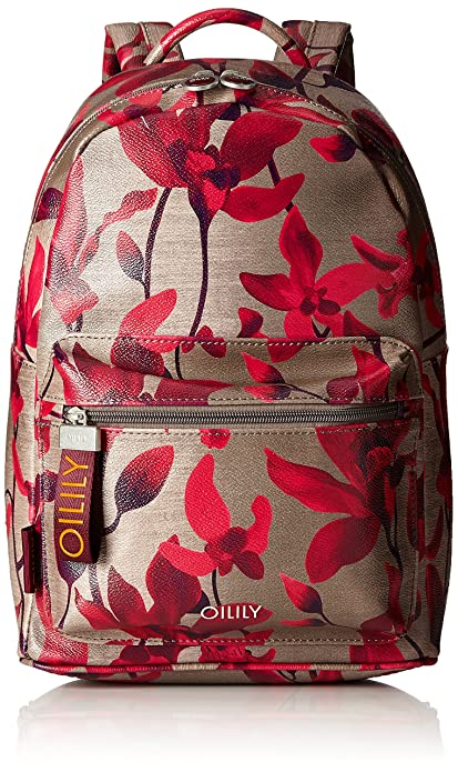 Oilily - Jolly Backpack Mvz, Mochilas Mujer, Rot (Dark Red), 13x36x22