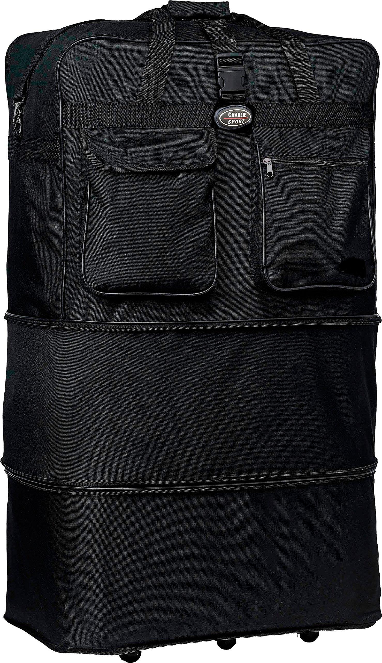30''/36''/40''/ Rolling Wheeled SuitCase (40'', Black)