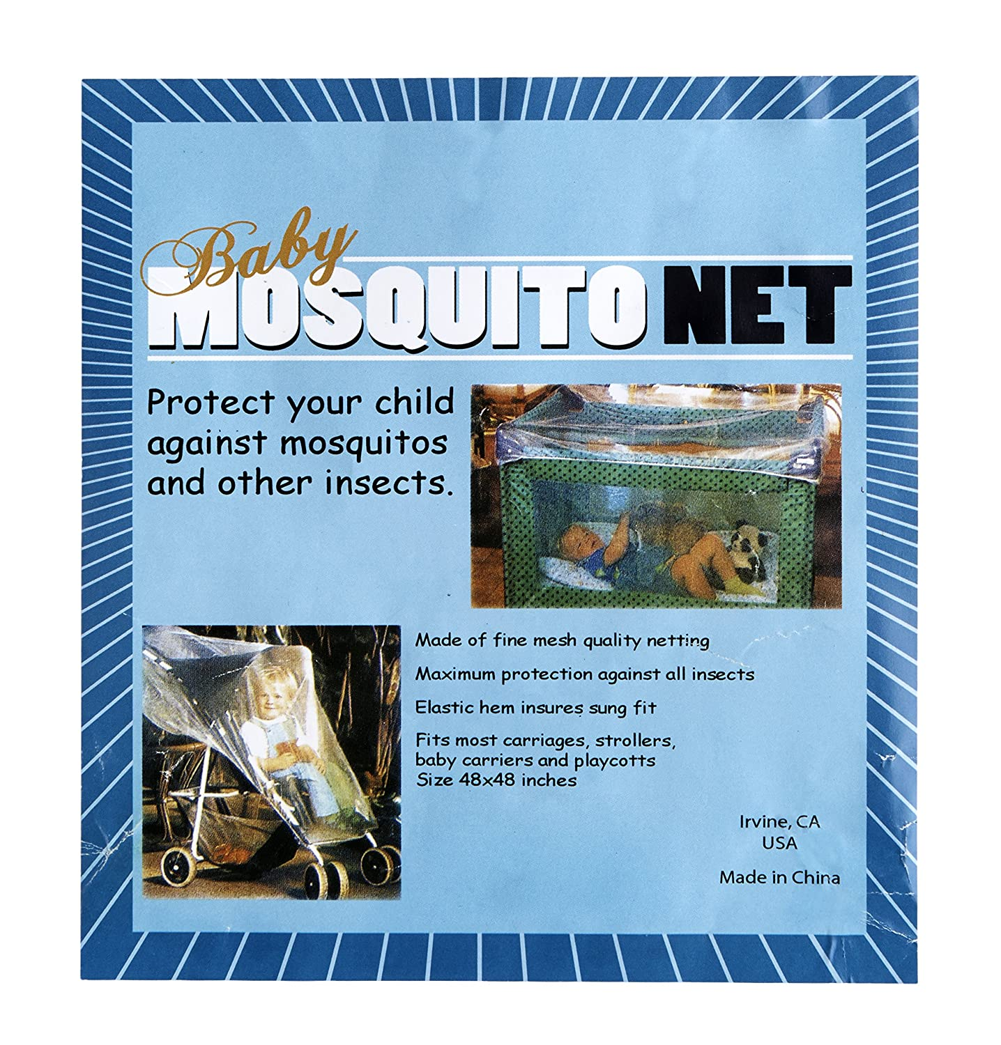 Baby Infant Protective Mesh Insect Mosquito Net for Strollers and Playards Bambini