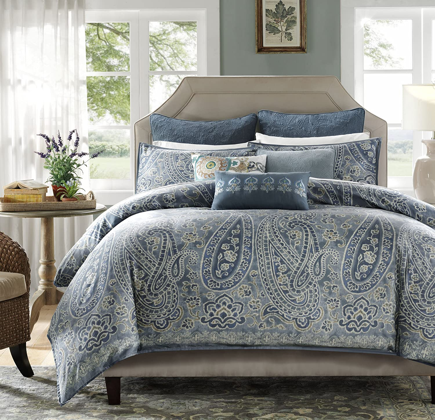 amazon cottage stone home com duvet kitchen king sateen set nnb covers cotton lancaster dp paisley jcl comforter
