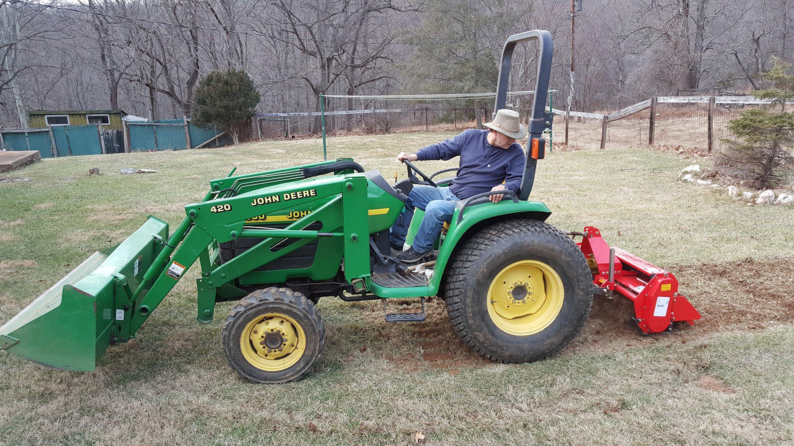Farmer Helper 48'' Tiller Cat.I 3pt 20+hp (FH-TL125)~Adjustable SideShift & SlipClutchDriveline by Farmer Helper (Image #1)