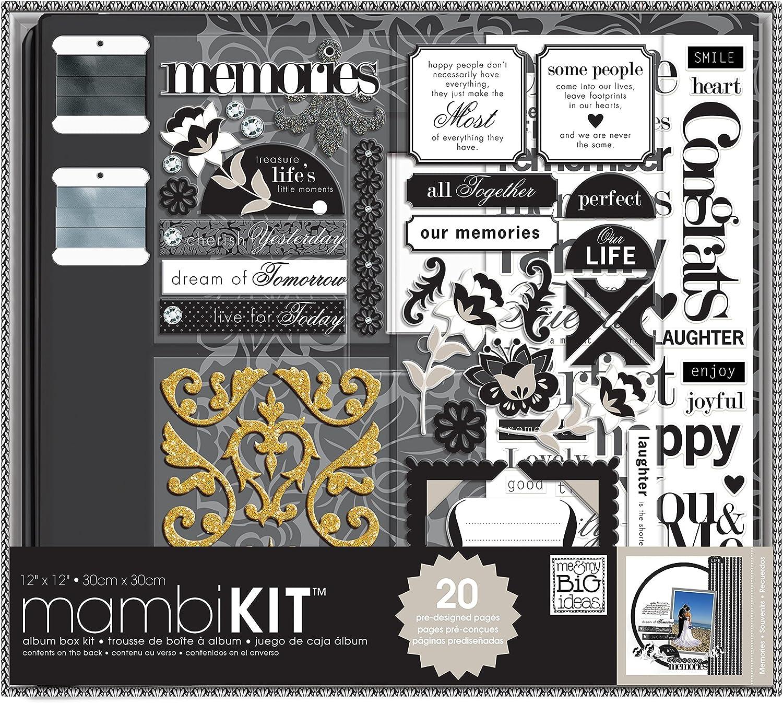 BLACK /& WHITE 12X12 Scrapbooking Kit Paper Studio NEW