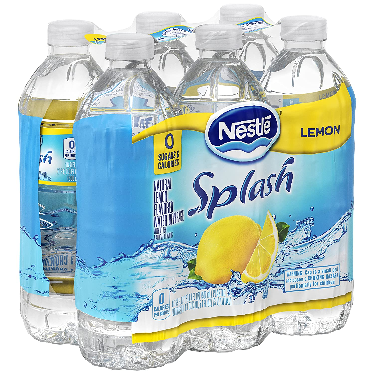 Nestle Pure Life Splash, Lemon, 16 9 Fluid Ounce (Pack of 6)