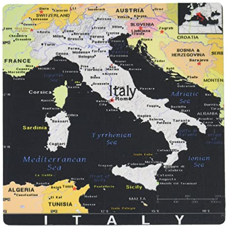 Modern Map Of Italy.Amazon Com 3drose Llc 8 X 8 X 0 25 Inches Mouse Pad Modern Map Of