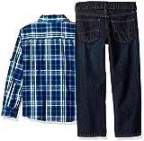 LEE Boys' Little 3 Piece Button Down Shirt, Graphic