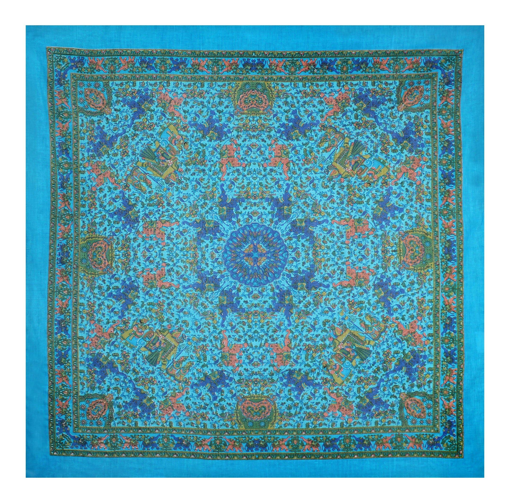 Fashionable Cotton Scarf - Indian Elephant Print - Hippie Style